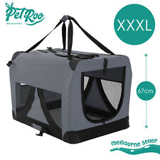 Pet Dog Soft Crate Portable Carrier Travel Cage Tent Kennel Folding XXXL GY