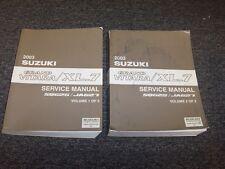 2003 Suzuki XL-7 SUV Shop Service Repair Manual Set JLX JX Touring 2.7L V6