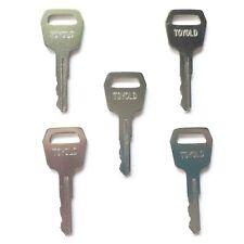 (5) Toyota Forklift Ignition Keys fits Older Models - Ships Free!