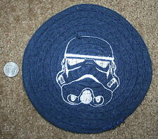 STAR WARS Inspired Navy Small Woven Trivet w/Stormtrooper embroidered in white