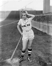 8x10 Print 1930 Flapper Pin Up Bessie Love Blue Sox Baseball Outfit Cute #BL030