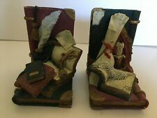 Resin Vintage Books, Quill & Scroll Book Ends
