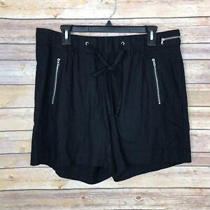 INC Concept Womens 0X Linen Blend Shorts Pull On Elastic Waist Flowy Lightweight