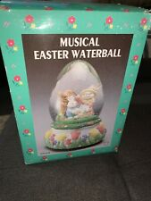 New in box Musical Easter Waterball Snow Globe 15894 Bunnies hard to find