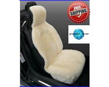 Cream Sideless Sheepskin Seat Cover Super Dense 100% Genuine Australian Merino