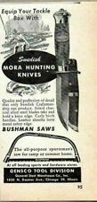 1948 Print Ad Swedish Mora Hunting Knives Gensco Tools Chicago,IL