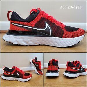 Nike React Infinity Run Flyknit 2 Red Black Shoes CT2357-600 Men's Sizes 9.5-12