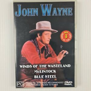 John Wayne Collection : Winds Of The Wasteland, McLintock, Blue Steel - R2,4
