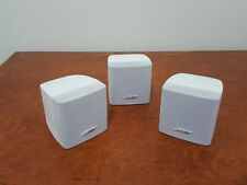 "Bose Single Cube Speaker in White x3 ""Genuine Bose Made"""
