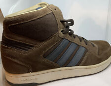 Adidas David Beckham shoes, size 7.5 Suede Brown With Blue Strips High top