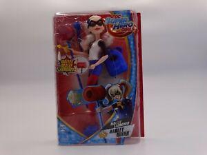 "DC Super Hero Girls Harley Quinn Action Doll W/Mallet Launcher 12"" NEW"