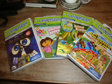 4 Leapster games WALL- E Dora Wildlife Animal Rescue Go Diego Go My Amusement Pa
