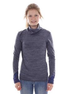 Brunotti Fleece Pullover Function Top Turtleneck Blau Hally Mottled