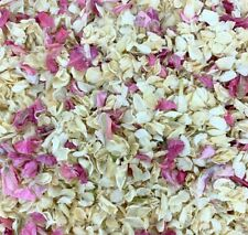Biodegradable Pink IVORY Wedding Confetti NATURAL Dried Petals DYE-FREE 7 Guests