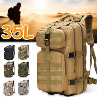 35L Outdoor Military Tactical Backpack Hiking Camping Trekking Rucksack Army Bag