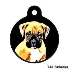 Boxer Puppy- Personalized Pet ID Tag for Dog & Cat Collars & Harnesses