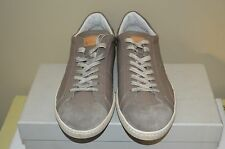 Santoni Dorado Taupe Distressed Leather Mens Sneaker Size 11