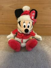 """Disney Minnie Mouse Dressed in Red winter dress & Hat- 12"""""""