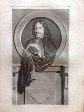HAMILTON CONTE D ARAN noble Escocés Retrato PIA GUNST Aguafuerte XVIII siglo