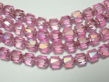25 Pink AB Cathedral Czech Glass 6mm beads