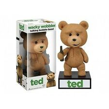 TED TALKING BOBBLE HEAD BRAND NEW WACKY WOBBLER MOVIE PG VERSION 4 PHRASE