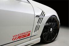 2 - VOLKSWAGEN RACING Sport Vinyl Decal sticker emblem logo RED