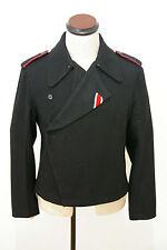 WWII German Heer panzer black wool wrap/jacket S