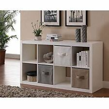 8-Cube Organizer Unit Shelves Storage Modern Bookcase TV Stand Furniture NEW
