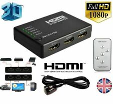 5 Port 1080P HDMI Switch Selector Switcher Splitter Hub+Remote for PS3 HDTV Xbox