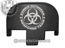 For Smith Wesson S&W M&P 9 40 45 Rear Slide Back Plate Blk Zombie Response 2