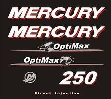 Adesivi motore marino fuoribordo Mercury 250 hp optimax world mondo