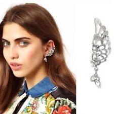 Silver Plated Crystal Cuff Fashion Earrings