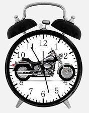 "American Motorcycle Alarm Desk Clock 3.75"" Home or Office Decor E351 Nice Gift"
