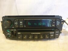 02 03 04 05 06 07 Dodge Chrysler Jeep Radio 6 CD Player P05091979AE LST34