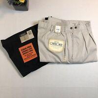 Two Pants/Slacks Bundle Khaki and Black New Haggar & Cherokee Men's Size 40 x 32
