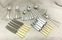 Asprey Silver Plated Cutlery Set Original Art Deco Flatware Bakelite RARE 44 Pcs