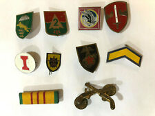 Vietnam War Us Army Pin Badge Lot of 10 - Special Forces, Airborne Division, etc