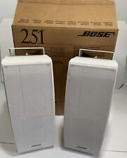 2x (Pair) Bose 251 Environmental Speakers (White) See Pics - Free Shipping