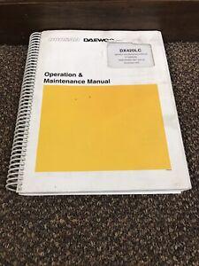 Daewoo Doosan DX420LC Excavator Operators Operation Maintenance Manual