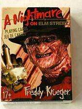 Freddy Krueger A Nightmare On Elm Street set of 52 playing cards + jokers Sealed