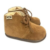 Baby UGG BOOTS Suede Lace-up Mini Mel, Size Medium (10-16 months) Unisex