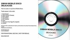 SIMIAN MOBILE DISCO Delicacies 2010 UK 8-trk promo test CD