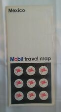 1968 Mexico Mobil Travel Map