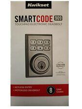 Kwikset 99090-021 SmartCode Electronic Deadbolt Featuring SmartKey Satin Chrome