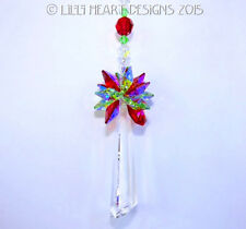 m/w Swarovski Big 63mm Fluted Drop Christmas Star SunCatcher Lilli Heart Designs