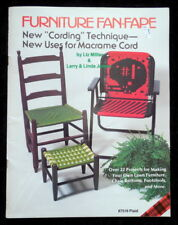 PLAID PATTERN BOOK MACRAME FURNITURE FAN-FARE CHAIRS FOOTBALL HELMET CORD 1982