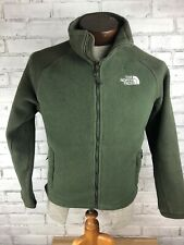 Men's Green Northface Fleece Jacket Full Zip Size XS