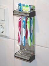 Zahnbürstenhalter Brushbox Wandhalter für Zahnbürsten verchromt