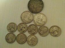 New ListingU.S. Silver Coin Lot 1 Peace; 2 Franklin Halves; 8 Washington Silver Quarters