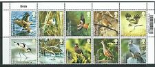 GREAT BRITAIN 2007 BIRDS BLOCK OF 10 WITH TITLES UNMOUNTED MINT, MNH